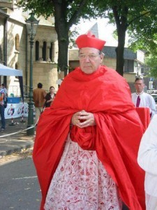 Cardinal Pell in a silly dress